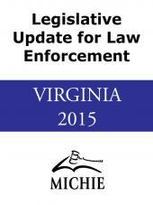 Virginia Advance Legislation for Law Enforcement, cover