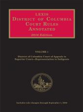 District of Columbia Court Rules Annotated cover