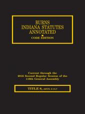 Burns Indiana Statutes Annotated - Utilities & Transportation: Carriers, Railroads, Highways (T. 8, Articles 2 - 15.7) cover