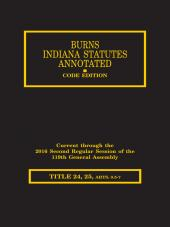 Burns Indiana Statutes Annotated - Trade Regulations, Consumer Sales & Credit / Professions& Occupations: General Provisions - Barbers (T. 24, 25 Articles 1 - 7) cover
