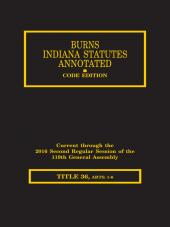 Burns Indiana Statutes Annotated - Local Government: Counties, UNIGOV, Cities Towns, Townships (T. 36, Book 1)(Articles 1-6) cover