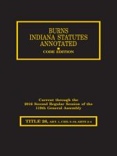 Burns Indiana Statutes Annotated - Commercial Law: Letters of Credit through Grain Indemnity Program (T.26, Art. 1 (chs. 5-10), 2-4) cover