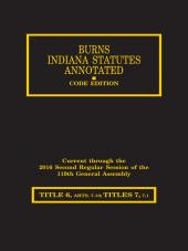 Burns Indiana Statutes Annotated - Taxation: Inheritance, Financial Institutions, Misc. / (7 - 7.1) Alcoholic Beverages (T. 6, Articles 7 - 9) cover