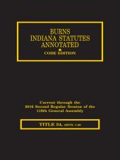 Burns Indiana Statutes Annotated - Civil Procedure: Definitions Through Injunctions (T.34, Articles 1-26) cover
