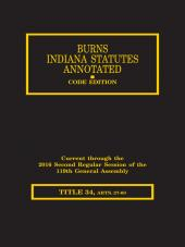 Burns Indiana Statutes Annotated - Civil Procedure: Mandate Through Foreign Declarations Act (T.34, Articles 27-59) cover