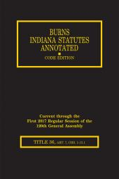 Burns Indiana Statutes Annotated - Local Government: Planning & Development, Public Safety (T.36, Art. 7 Chs. 1 - 15.1) cover