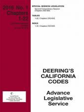 California Deering's Advance Legislative Service cover