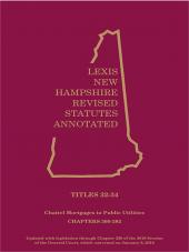 New Hampshire Revised Statutes Annotated- Volume 18  : Title 32-34 Chattel Mortgages;Conditional Sales;Retail Installment Sales;Public Utilities cover