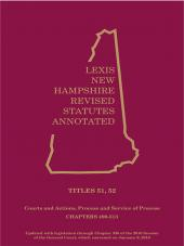New Hampshire Revised Statutes Annotated- Volume  26: Title 51-52 Courts; Actions, Process & Service  of Process cover