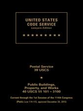 USCS Postal Service/Public Buildings, Property and Works Set:  Titles 39-40 cover