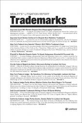 Mealey's Litigation Report: Trademarks cover