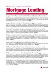 Mealey's Litigation Report:  Mortgage Lending cover