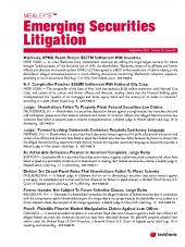 Mealey's Emerging Securities Litigation cover