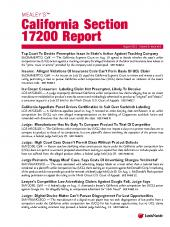 Mealey's California Section 17200 Report cover