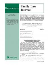 Massachusetts Family Law Journal cover