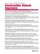Mealey's Litigation Report: Construction Defects Insurance cover