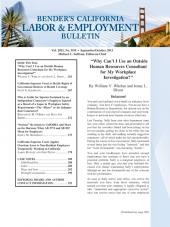 Bender's California Labor & Employment Bulletin