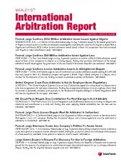 Mealey's International Arbitration Report cover