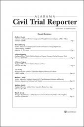 Alabama Civil Trial Reporter cover