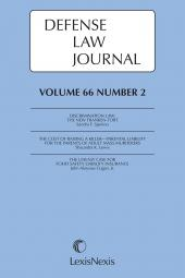 Defense Law Journal cover
