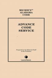 Michie's Alabama Advance Code Service cover