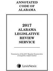 Alabama Legislative Review Service cover