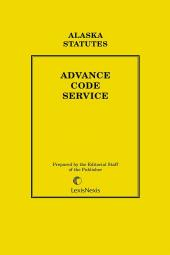 Alaska Advance Code Service cover