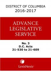 District of Columbia Lexis Advance Legislative Service cover
