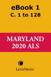 Maryland Advance Legislative Service cover