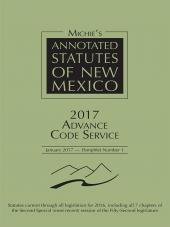 Michie's Annotated Statutes of New Mexico Advance Code Service cover