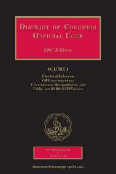 District of Columbia Official Code, General Index cover
