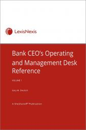 Bank CEO's Operating and Management Desk Reference cover