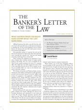 The Banker's Letter of the Law cover
