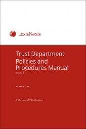 Trust Department Policies and Procedures cover