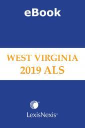 West Virginia Advance Legislative Service cover