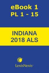 Burns Indiana Statutes Annotated: Advance Legislative Service cover