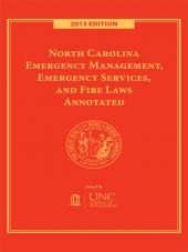 North Carolina Emergency Management, Emergency Services, and Fire Laws Annotated cover