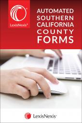 LexisNexis® Automated Southern California County Forms cover
