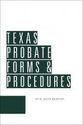 Texas Probate Forms and Procedures cover