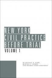 New York Civil Practice Before Trial cover