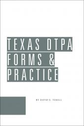 Texas DTPA Forms and Practice Guide cover