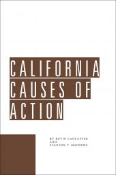California Causes of Action cover