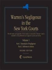 Warren's Negligence in the New York Courts, Second Edition cover