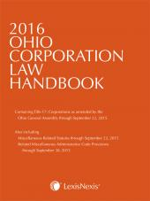 2017 Ohio Corporation Law Handbook cover