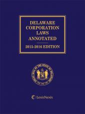 Delaware Corporation Laws Annotated cover