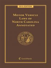 Motor Vehicle Laws of North Carolina Annotated cover