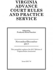 Virginia Advance Court Rules and Practice Service cover