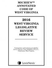 West Virginia Legislative Review Service, 2016 cover