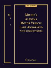 Michie's Alabama Criminal Code Annotated and Vehicle Laws Annotated cover