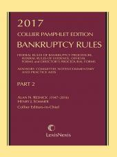 Collier Pamphlet Edition Part 2 (Bankruptcy Rules) cover